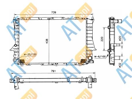Радиатор двигателя 60458A