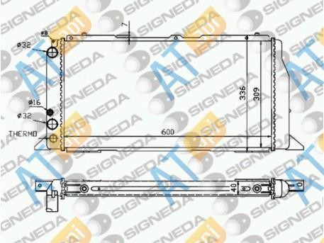 Радиатор двигателя 60487A