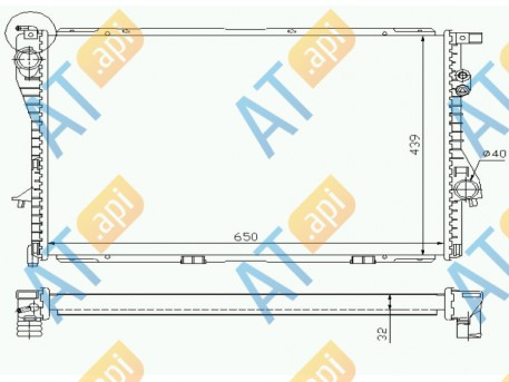 Радиатор двигателя 60603A