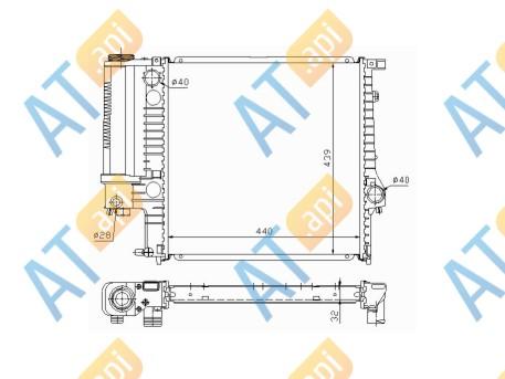 Радиатор двигателя 60623