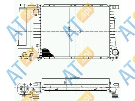 Радиатор двигателя 60703A