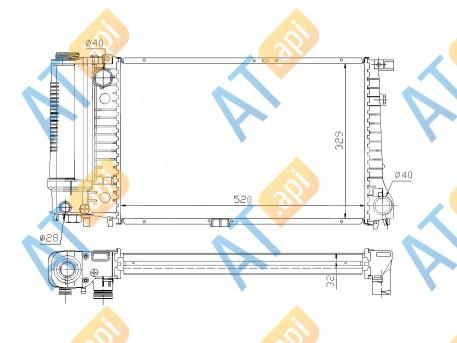 Радиатор двигателя 60736A