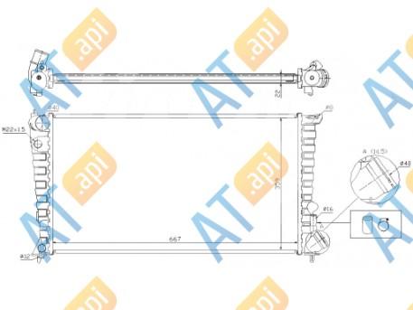 Радиатор двигателя 61315