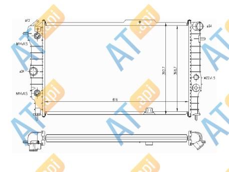 Радиатор двигателя 63064A