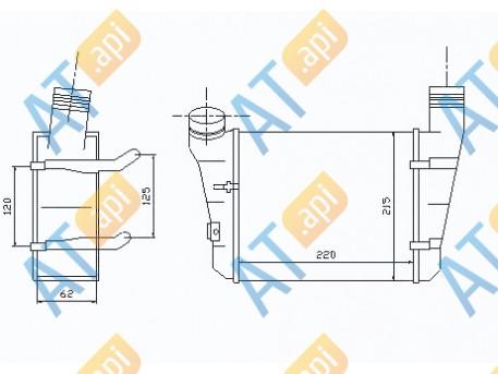 Радиатор интеркулера 96707