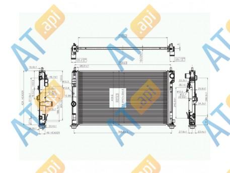 Радиатор двигателя RA2951