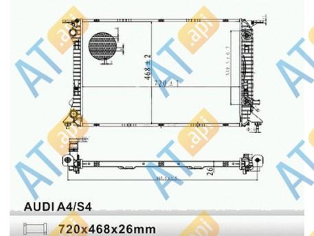Радиатор двигателя RA60321