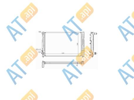 Радиатор двигателя RA60491A