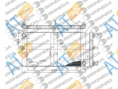Радиатор охлаждения RA60762