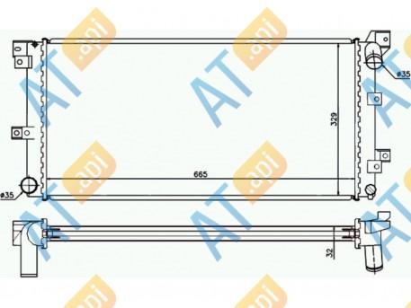 Радиатор двигателя RA60985