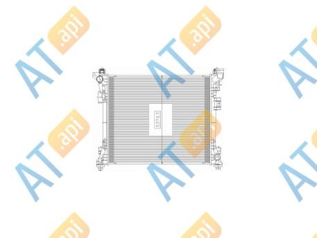 Радиатор двигателя RA610058