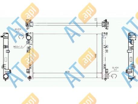 Радиатор RA61395