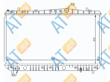 Радиатор двигателя RA61633