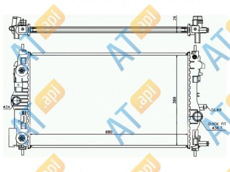Радиатор двигателя RA630724