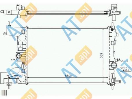 Радиатор двигателя RA630725