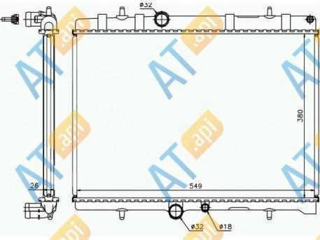Радиатор двигателя RA63689A