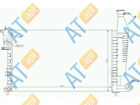 Радиатор двигателя RA63716