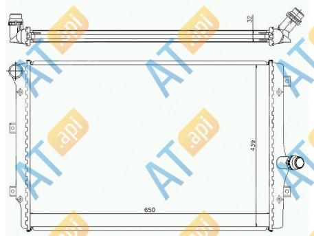 Радиатор двигателя RA65281