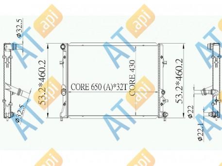 Радиатор двигателя RA65295Q
