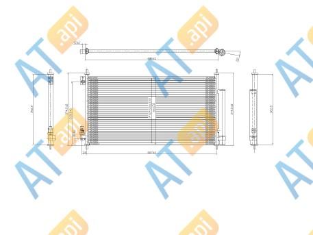 Радиатор кондиционера RC93059