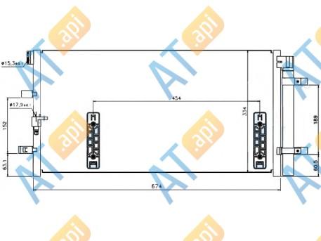 Радиатор кондиционера RC940042
