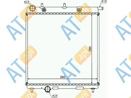Радиатор кондиционера RC940055