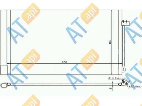 Радиатор кондиционера RC940058