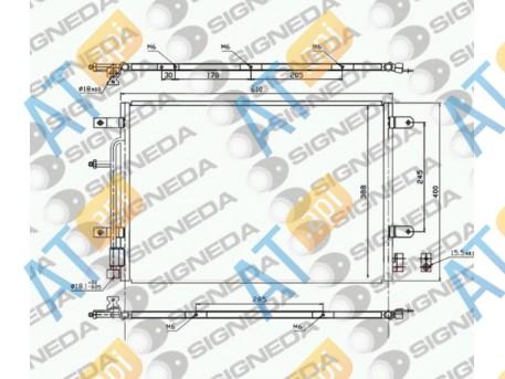 Радиатор кондиционера RC940139
