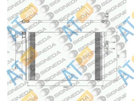 Радиатор кондиционера RC940226