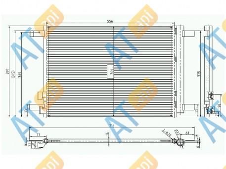 Радиатор кондиционера RC940319