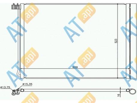 Радиатор кондиционера RC940339