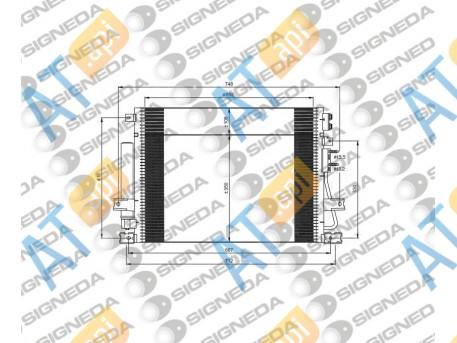 Радиатор кондиционера RC940348