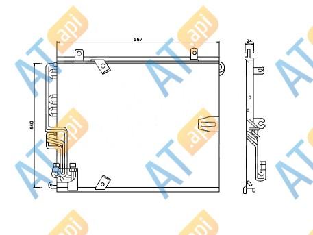 Радиатор кондиционера RC94158