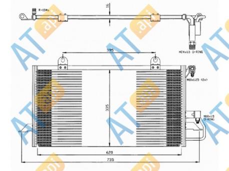 Радиатор кондиционера RC94209