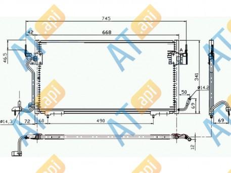 Радиатор кондиционера RC94276