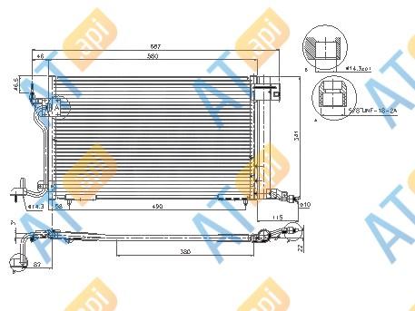Радиатор кондиционера RC94313