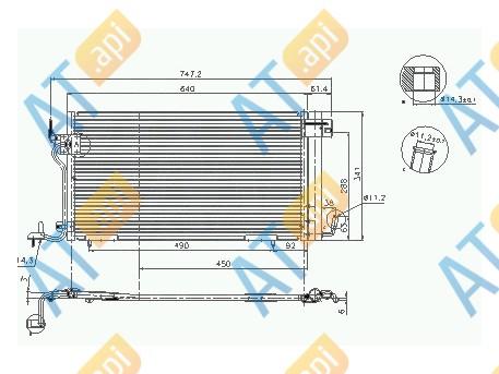 Радиатор кондиционера RC94321