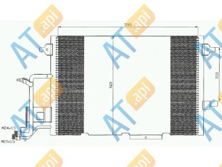 Радиатор кондиционера RC94430