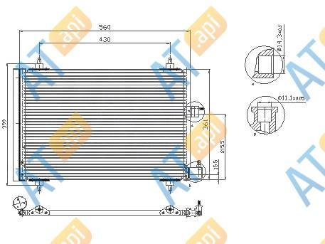 Радиатор кондиционера RC945422