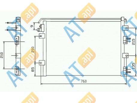 Радиатор кондиционера RC94556