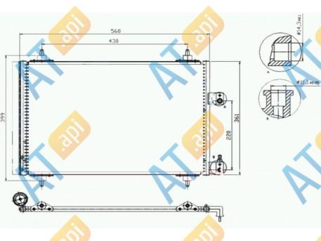 Радиатор кондиционера RC94560
