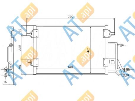 Радиатор кондиционера RC94593
