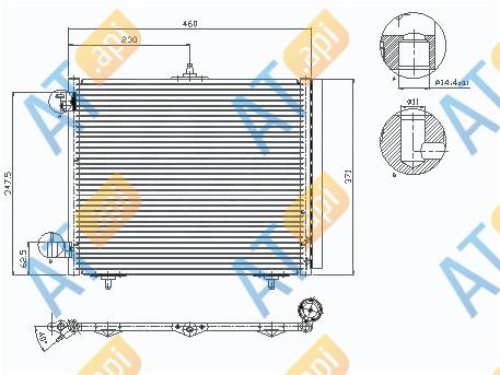 Радиатор кондиционера RC94595