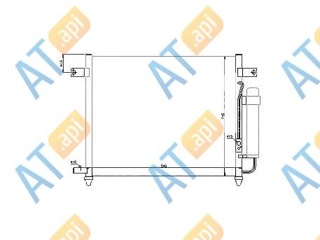 Радиатор кондиционера RC94640