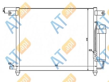 Радиатор кондиционера RC94641