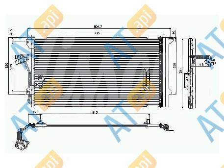 Радиатор кондиционера RC94667