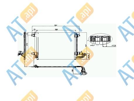 Радиатор кондиционера RC946844