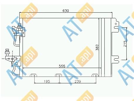 Радиатор кондиционера RC94767