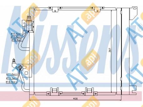 Радиатор кондиционера RC94768