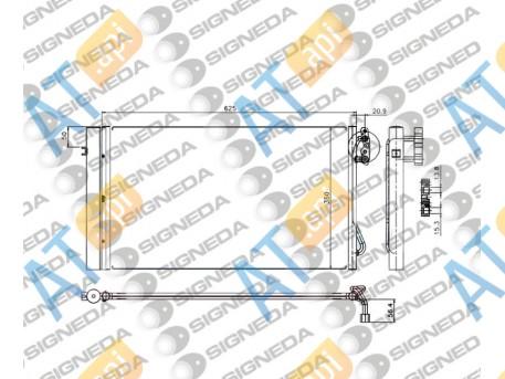 Радиатор кондиционера RC94873